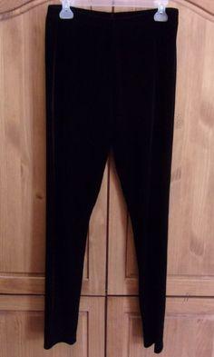 Style & Co. Women's Black Velvet Pull On Slacks Pants Size XL Elastic Waist…