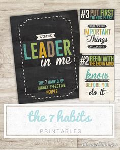 Leader in Me - 7 habits posters for the classroom