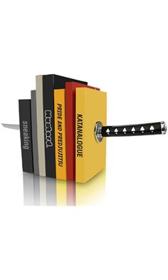 Mustard Katana Bookends - Magnetic Decorative Bookends with Samurai Sword Design Best Price