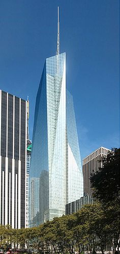 Top 10 Tallest Buildings in USA | Incredible Pictures, Bank of America Tower, New York City 1,200 ft.