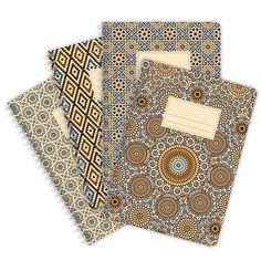 Notizblock mit herrlichem orientalisch inspirierten Muster!  Jeder Block enthält 60 Blätter - standardmäßig blanko oder wenn gewünscht kariert oder liniert (bitte bei Bestellung...