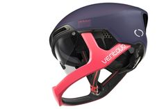 Ventoux cycling helmet concept aims for aero full-face road riding protection - Bikerumor Buy Bike, Bike Run, Road Bike, Cycling Helmet, Bicycle Helmet, Bike Helmets, Small Cushions, Full Face Helmets, Foam Pillows