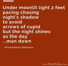 Man Down, by Clea McLemore #poetry #Quotes #FameAndGlory #cupid