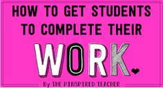 Here are 50+ Quick Ways to Get a Student to Complete Their Work But first, Most likely you stumbled on this mega post with a specific student in mind. Picture that student as you read this list to help you determine which strategies to begin with. Certainly, not all will fit your style or your …