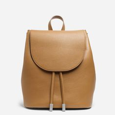 The Petra Tan Backpack by Everlane - Ethical Collective Brown Leather Backpack, Tan Leather, Italian Leather Handbags, Sustainable Clothing Brands, Brown Bags, Fashion Backpack, Backpacks, Shoe Bag, Petra