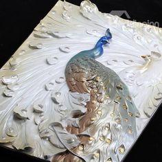 Delicate Three-dimensional Sculpture Peacock Wall Art Prints