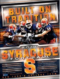2011 Syracuse Football poster