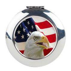 Bald Eagle Round Compact Mirror> Lisa Williams Art