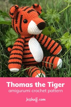Thomas the Tiger Amigurumi Pattern