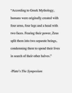 Quote of the Day: Plato | Nicholi A. K. Baldron Plato Quote about Soul Mates
