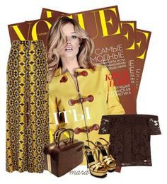 """Yellow Brownies"" by marastyle ❤ liked on Polyvore featuring River Island and Yves Saint Laurent"
