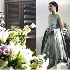 Pakistani actor Mahira Khan in a scene from her film 'Bin Roye' wearing Elan.