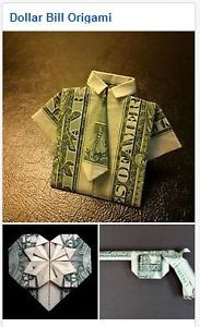 Find pre-folded dollar bill origami projects to buy Origami Love Heart, Origami Star Box, Origami Ball, Origami Fish, Origami Stars, Origami Boxes, Origami Folding, Origami Flowers, Paper Folding