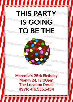 Candy Crush Birthday Card By Heybuddygreetings On Etsy Favorite