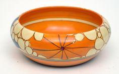 A Clarice Cliff Fantasque Broth pattern bowl, circa 1930
