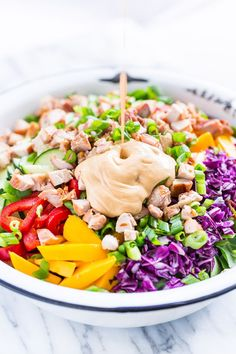 Rainbow Thai Chopped Salad | Get Inspired Everyday!