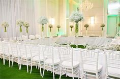 Our beautiful white Tiffany chairs at The One & Only Hotel V & A Waterfront Cape Town.  Styled by : Leipzig Florals  Photography : Zara Zoo Photography