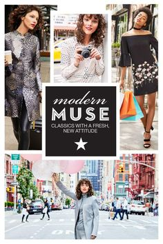 The Modern Muse trend is all about perfectly polished pieces that can be worn to work and on the weekend. Create your own look by wearing classic pieces with a new attitude. Click to discover the Modern Muse trend and shop your favorite looks at Macy's.