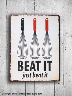 Plaque décorative pour une déco rétro de votre cuisine.