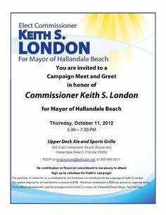 Political fundraiser invitations | Online Candidate Regular ...