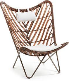Vlinderstoel Cocoa Rotan Metaal Stof La Forma kopen? LiL.nl