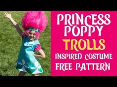 Princess Poppy Costume DIY (Free Pattern) ♥ Fleece Fun
