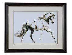 Cantering Horse Framed Painting Print