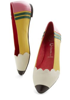 Oh my goodness these pencil flats are too cute!