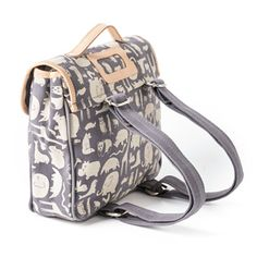 animal print satchel