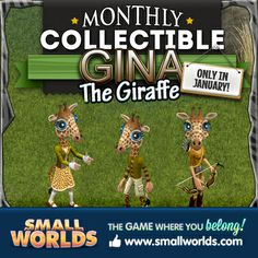Monthly Collectible Gina the Giraffe.
