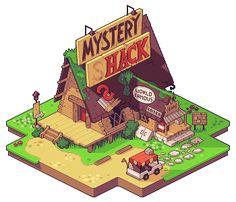 Resultado de imagem para mystery hack pixel art