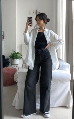 Teen Fashion Outfits, Mode Outfits, Retro Outfits, Cute Casual Outfits, Modest Fashion, Stylish Outfits, Korean Girl Fashion, Muslim Fashion, Looks Pinterest