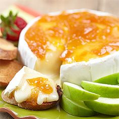 Brie and apricot.