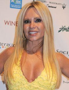 Tamra Barneys sleek and shiny blonde hair