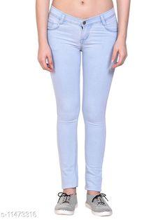 Jeans Ice Blue, Basic/Plain Silky Denim Jeans for Women/Ladies (IB2201_Nik n Vil) Fabric: Denim Multipack: 1 Sizes: 34 (Waist Size: 34 in Length Size: 39 in)  36 (Waist Size: 36 in Length Size: 38 in)  38 (Waist Size: 38 in Length Size: 37 in)  28 (Waist Size: 28 in Length Size: 39 in)  40 (Waist Size: 40 in Length Size: 37 in)  30 (Waist Size: 30 in Length Size: 39 in)  42 (Waist Size: 42 in Length Size: 36 in)  32 (Waist Size: 32 in Length Size: 39 in)  Country of Origin: India Sizes Available: 28, 30, 32, 34, 36, 38, 40, 42   Catalog Rating: ★4.1 (630)  Catalog Name: Trendy Elegant Women Jeans CatalogID_2156010 C79-SC1032 Code: 134-11473316-1701