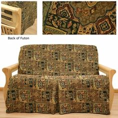 Ay Skirted Futon Cover Offers Mesmerizing Asian Tapestry In Wonderful Color Scheme Depicting Elephants