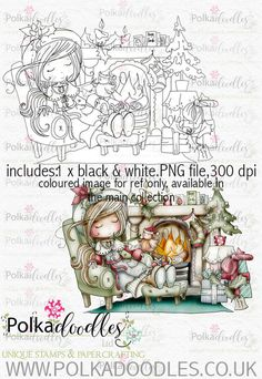 Winnie Winterland - Cosy Christmas digital craft stamp download - Polkadoodles Ltd Cosy Christmas, Christmas Fairy, Adult Coloring, Coloring Pages, Butterfly Template, Christmas Characters, Christmas Drawing, Frosty The Snowmen, Digi Stamps