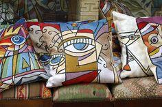 Abstract pillows | Pillows with art | Artful pillow ideas