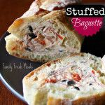 Stuffed Baguette.Best appetizer for New Year's Eve!
