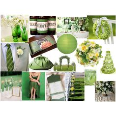 Shades of Green Wedding, created by highglosswed