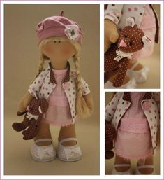 ....a perfect pair in polka-dots! i love this little girl and her bear!....