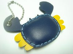 Maria the Crab Leather Charm ( Dark Blue ) ($19.90 USD + shipping and handling)