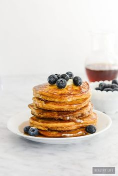 Paleo Pumpkin Spice Pancakes are the perfect stack of breakfast cakes with a taste of fall. Fluffy, pumpkiny flavored pancakes that are gluten free, grain free, dairy free, vegetarian and paleo-friendly. Pumpkin Spice Pancakes, Paleo Pancakes, Sourdough Pancakes, Pumpkin Puree, Breakfast Cake, Healthy Breakfast Recipes, Paleo Recipes, Paleo Meals, Flour Recipes