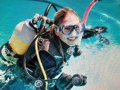 Scuba Girl, Scuba Diving, Glass, Women, Burns, Charlotte, Diving Suit, Diving, Drinkware
