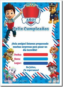 Paw Patrol Printable Invitation – Ideas for Children's Parties, For Women Men 15 years and Weddings rnrnSource by dicacr Paw Patrol Invitations, Printable Invitations, Paw Patrol Birthday Cake, Paw Patrol Cake, Paw Patrol Decorations, 3rd Birthday, Birthday Parties, Birthday Ideas, Lego