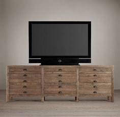 Printmaker's Media Console | TV Easels | Restoration Hardware