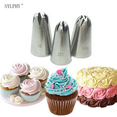 Cheap baking tools, Buy Quality decorating tip set directly from China decorating tips Suppliers: 3 pcs Cake Cream Decoration Tips Set Stainless Steel Piping Nozzle Cupcake Pastry Baking Tool