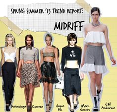 Fashion Foie Gras: Spring Summer 2013 Trend Report: Baring our Midriffs