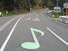 Musical Road,  Japan...only four exist in the world.
