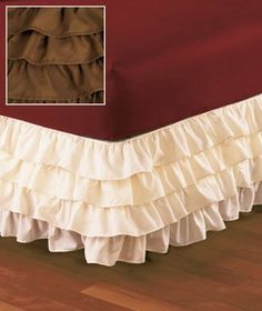 chocolate color wrap around ruffled bedskirt king size bedding sheets bedroom bedspreads western findshttp